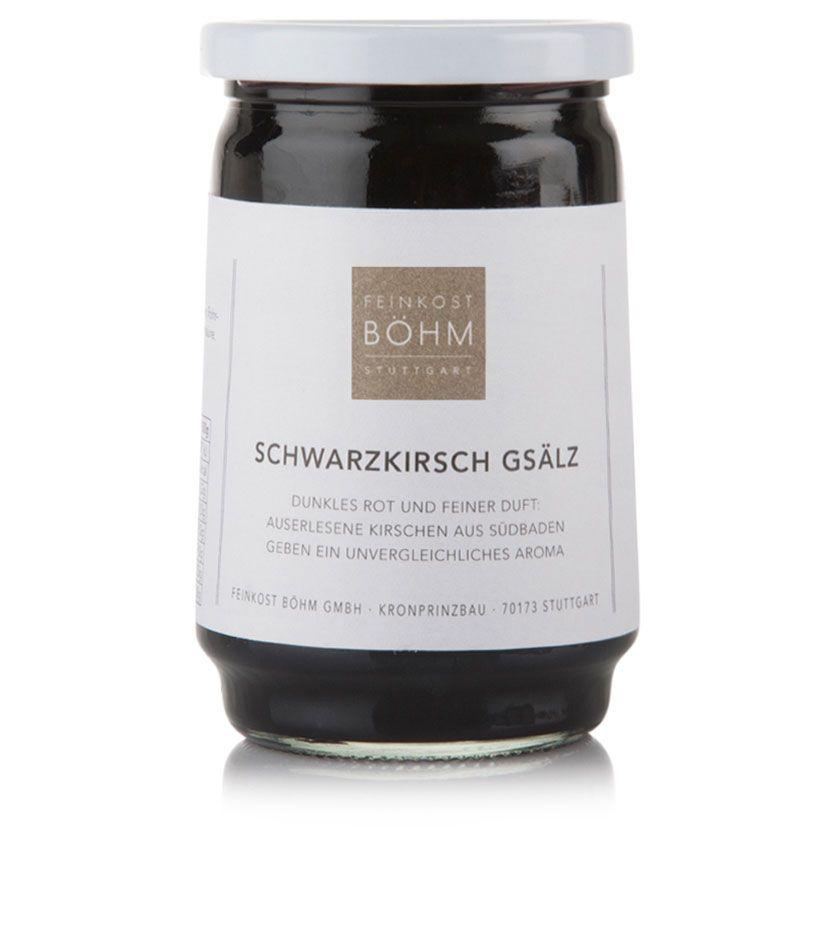 Feinkost Böhm Schwarzkirsch Gsälz Konfitüre Extra 450g