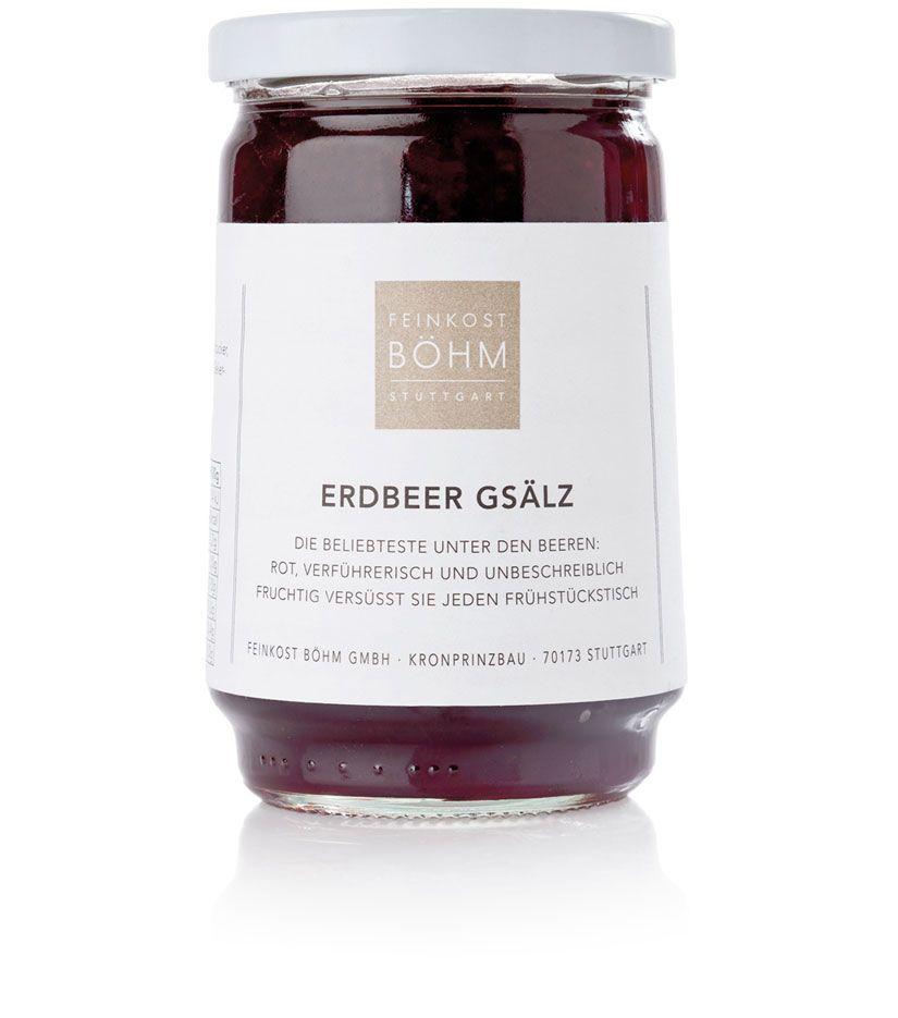 Feinkost Böhm Erdbeer Gsälz Konfitüre Extra 450g