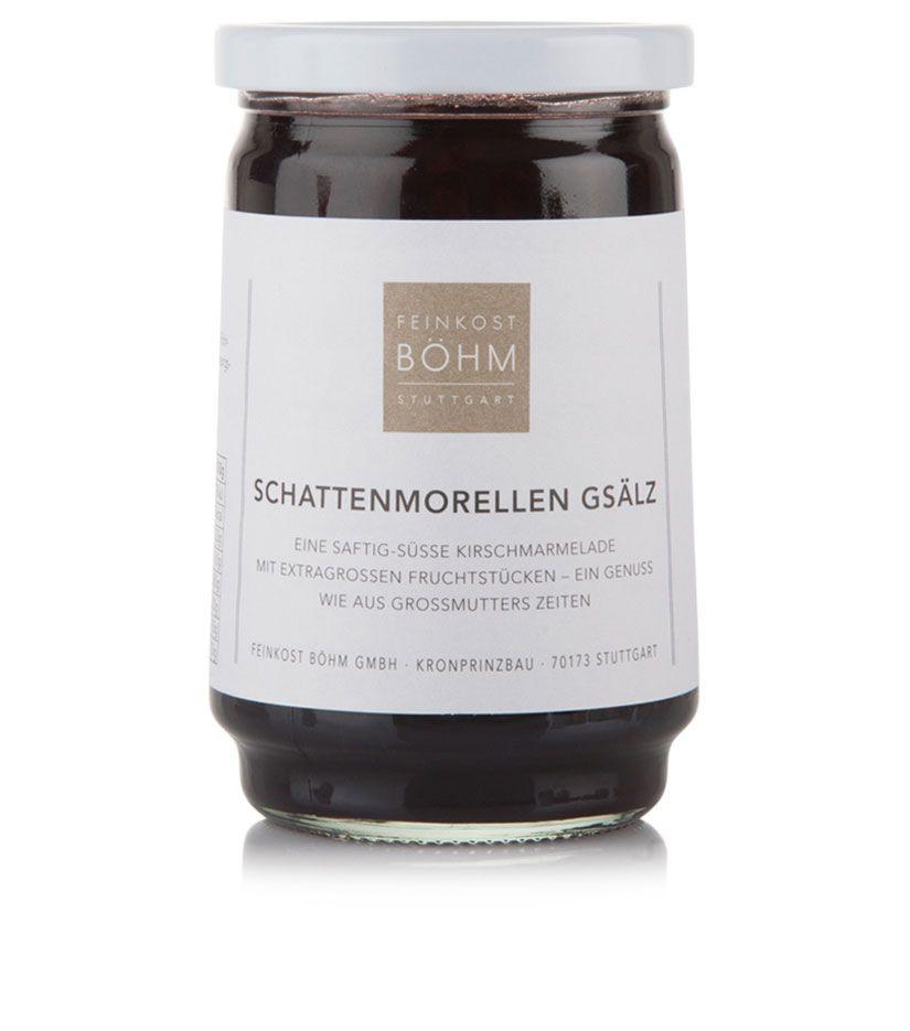 Feinkost Böhm Schattenmorellen Gsälz Konfitüre extra 450g