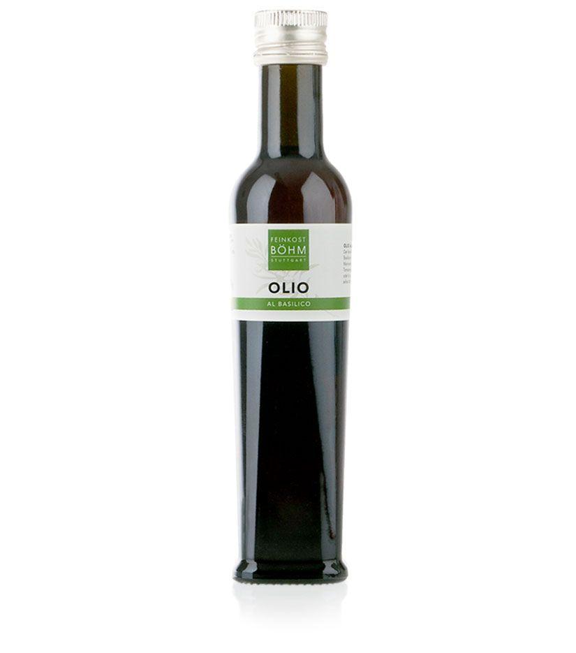 Feinkost Böhm Olio al basilico Olivenöl mit Basilikum 250ml
