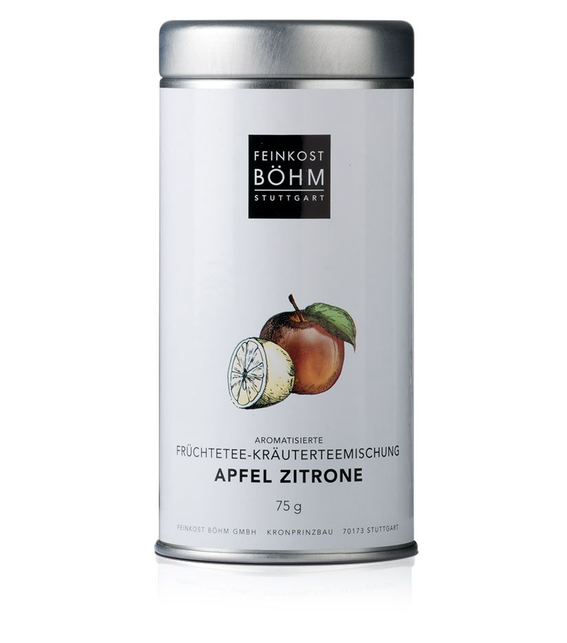 Feinkost Böhm Aromatisierte Früchtetee-Kräuterteemischung Apfel Zitrone 75g