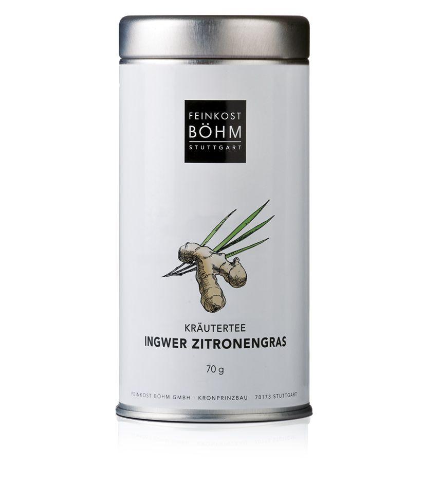 Feinkost Böhm Aromatisierte Grüntee Kräutermischung Ingwer Zitrone 70g
