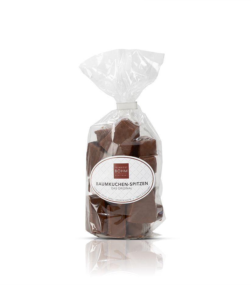 Baumkuchen Spitzen mit edler Vollmilchschokolade 150g