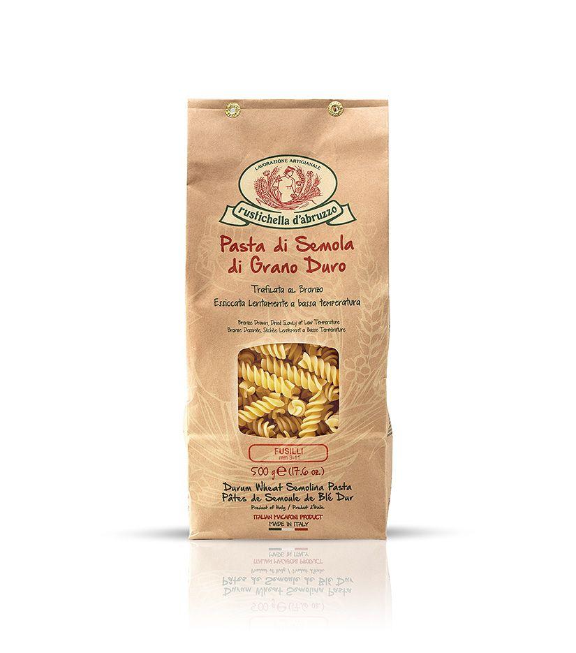 Rustichella d'Abruzzo Pasta di Semola di Grano Duro Fusilli Nudeln 500g
