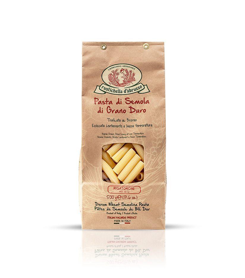 Rustichella d'Abruzzo Pasta di Semola di Grano Duro Rigatoncini Nudeln 500g