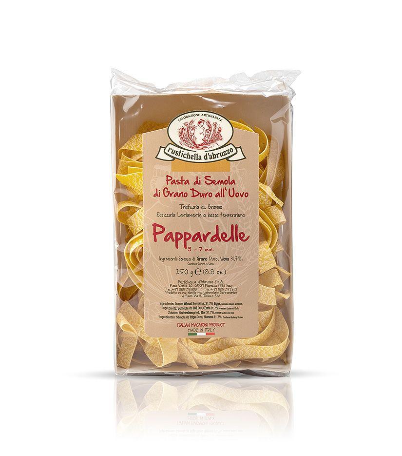Rustichella d'Abruzzo Pasta di Semola di Grano Duro all'Uovo Pappardelle Nudeln 250g