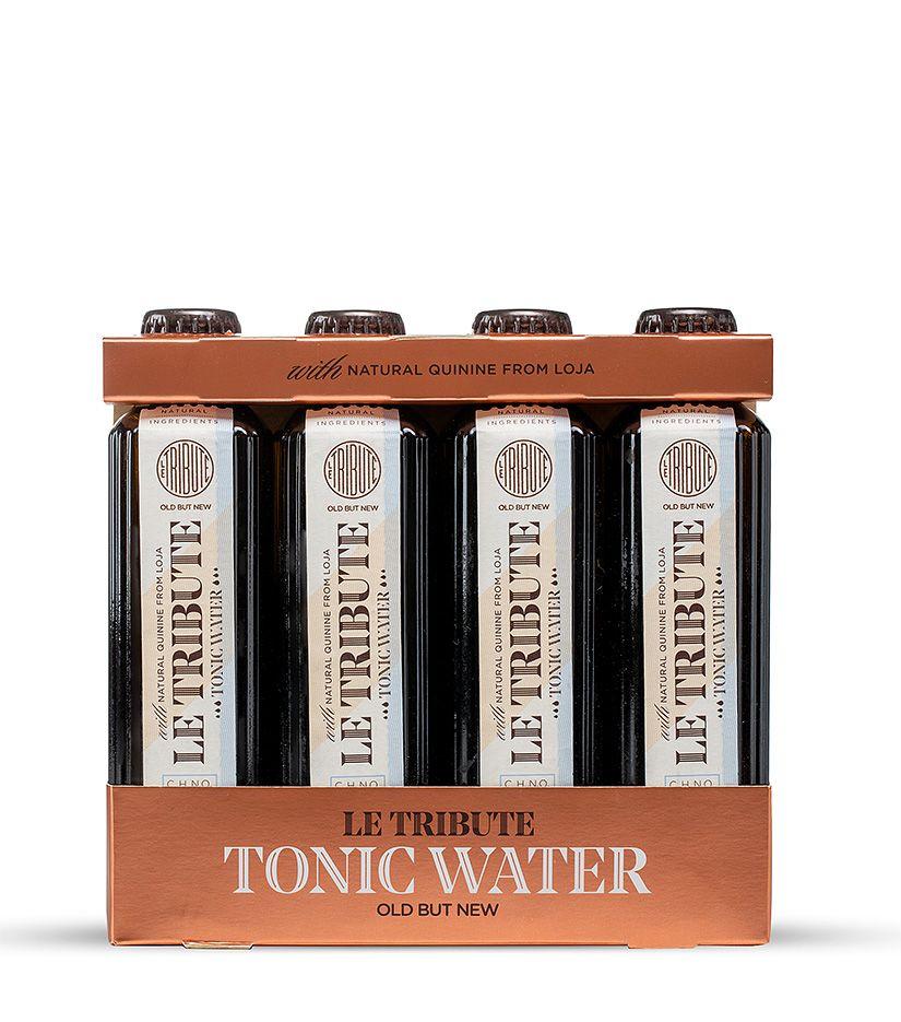 Le Tribute Tonic Water chininhaltiges Getränk aus Extrakten 4 x 0,2l