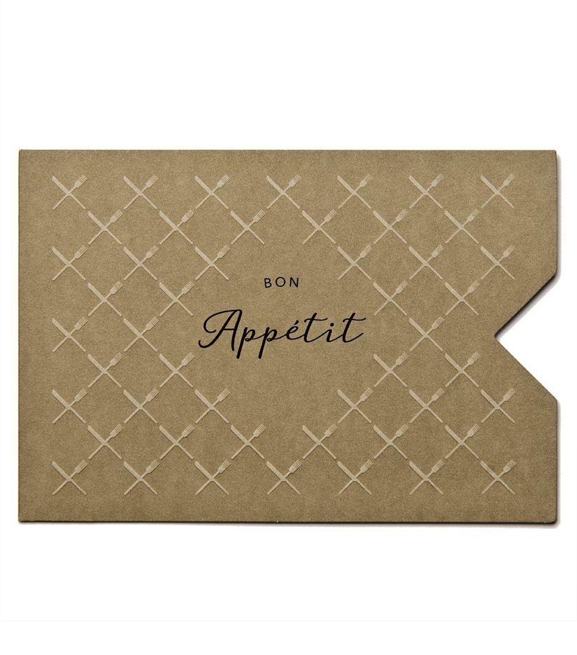 """Geschenkkarten Hülle """"Bon Appetit"""""""