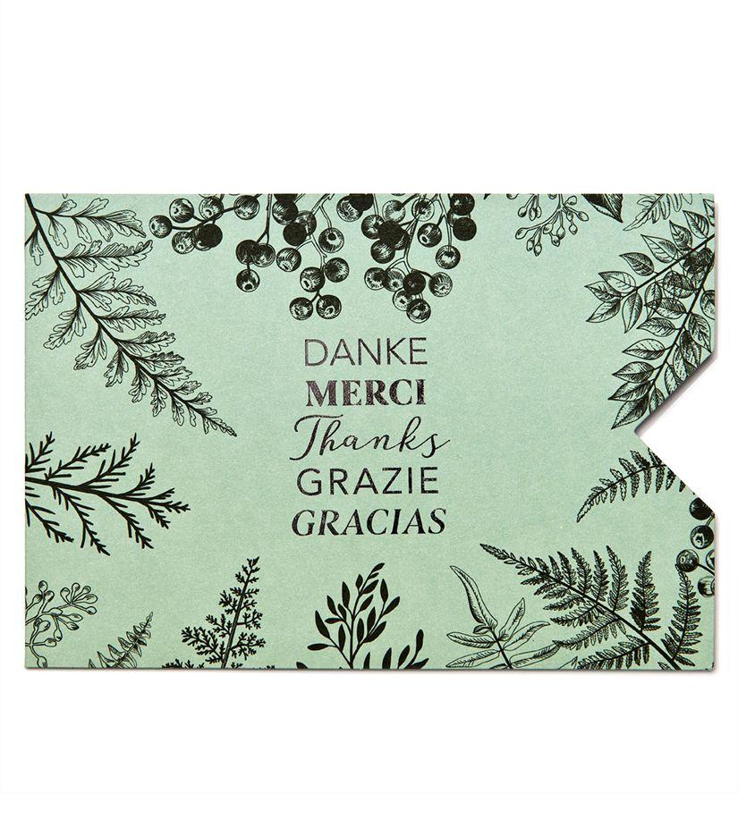 """Geschenkkarten Hülle """"Danke"""""""