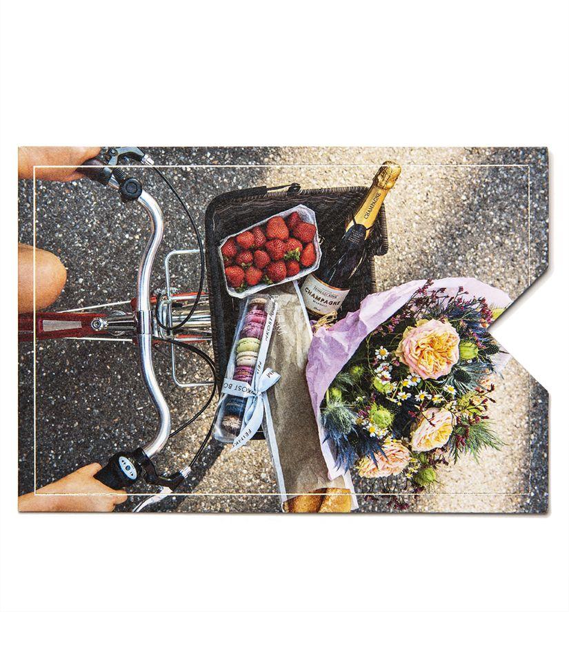 "Geschenkkarten Hülle ""Fahrrad"""