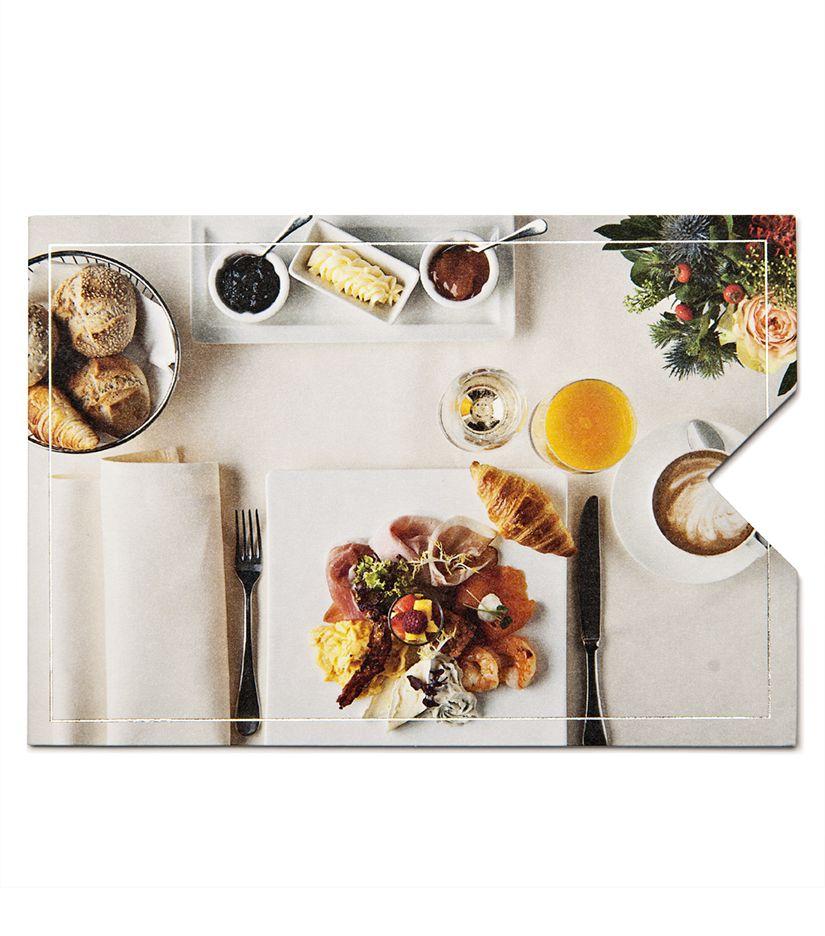 """Geschenkkarten Hülle """"Frühstück"""""""