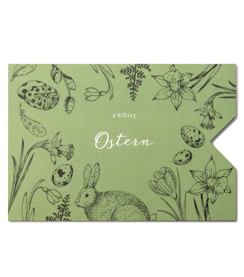 "Geschenkkarten Hülle ""Frohe Ostern"""