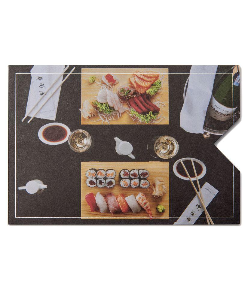 """Geschenkkarten Hülle """"Sushi"""""""