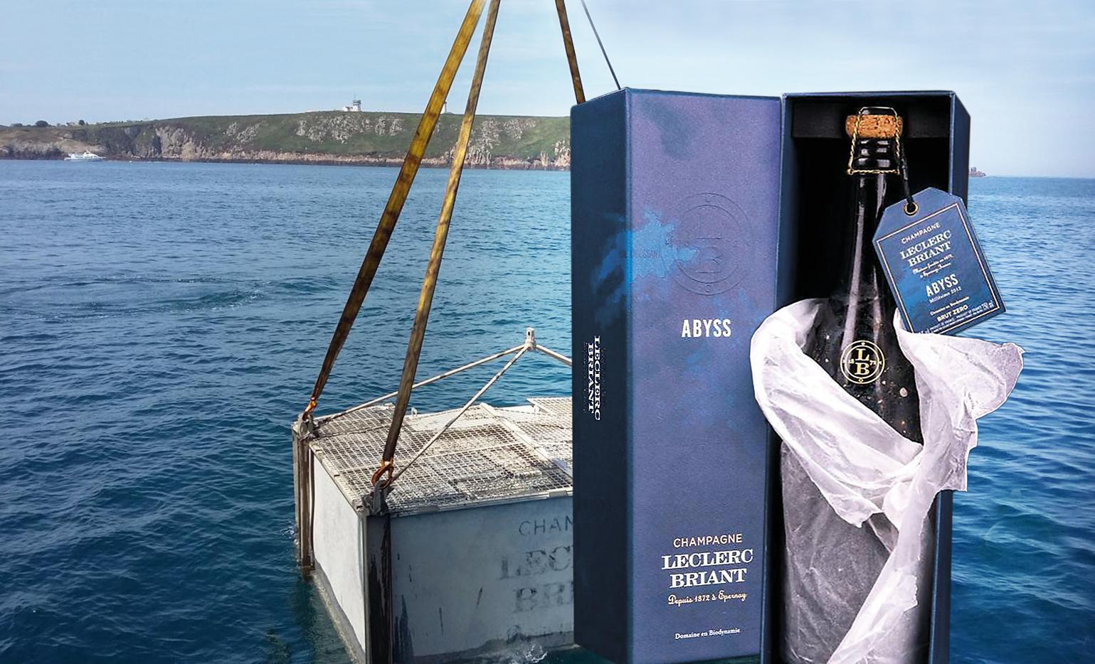 Champagner aus den Tiefen des Meeres