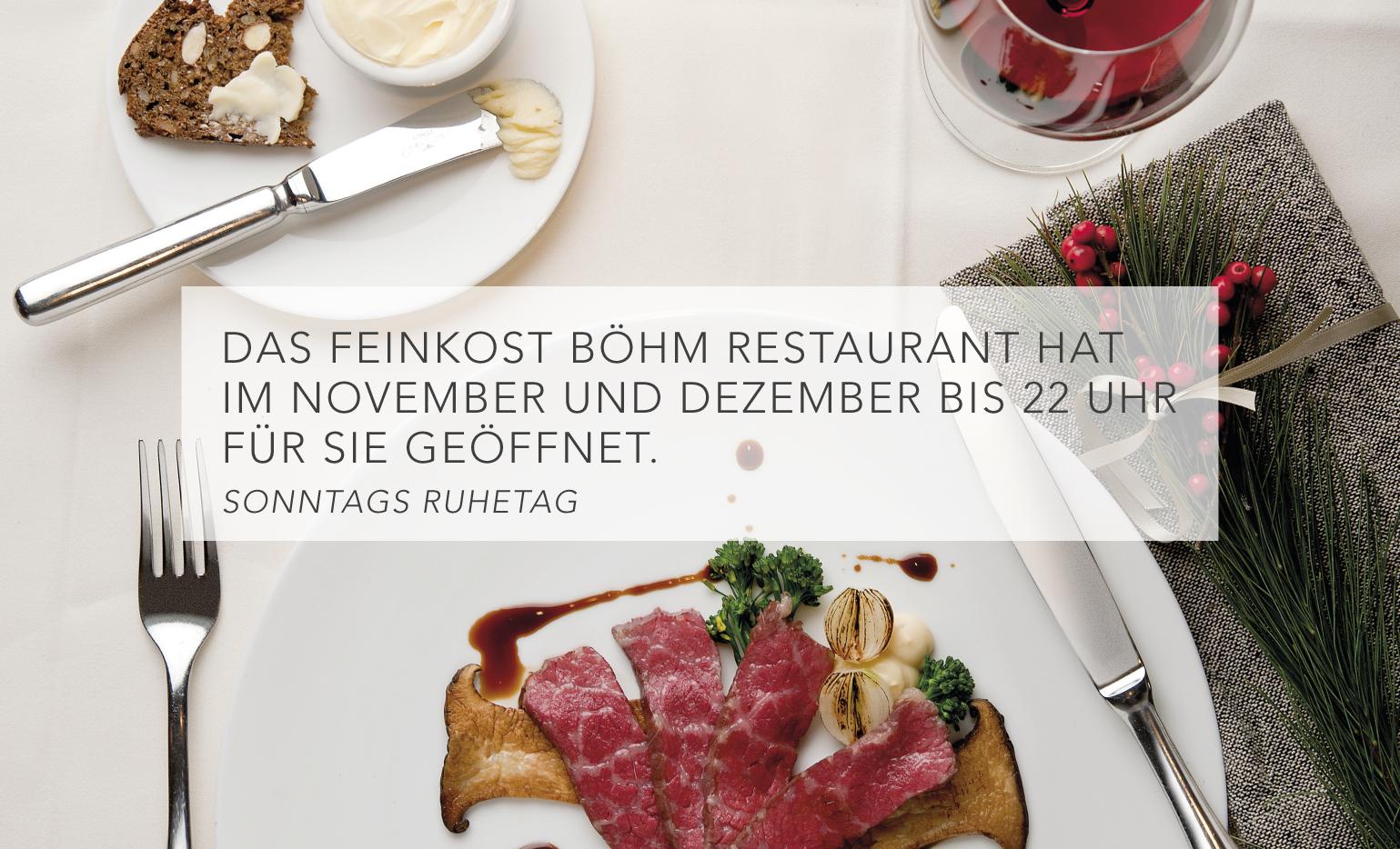Öffnungszeiten Feinkost Böhm Restaurant